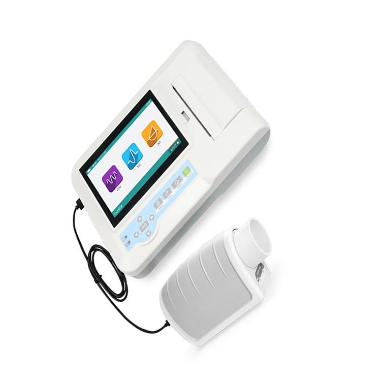 YSSPR100 Cheap price Pulmonary Lung Function Tests Analyzer test FVC/VC/MVV portable Spirometer