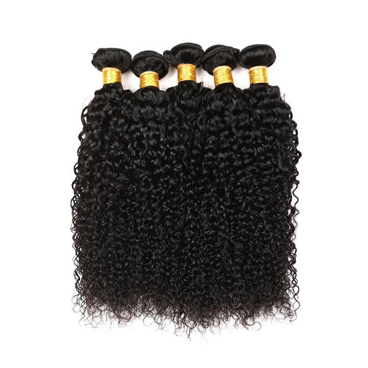 Qualidade superior afro crespo encaracolado virgem crua do cabelo humano tecelagem