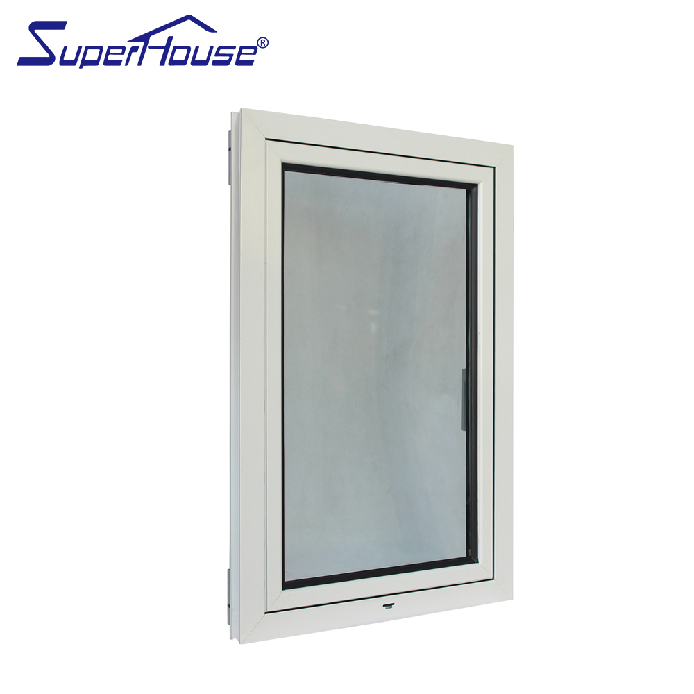 White color tilt and turn window double glazed awning windows factory supply