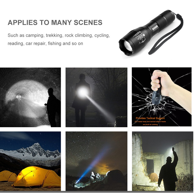 1000 High Lumens Super Bright LED Torch G700 Police Waterproof Mini Rechargeable Military T6 Tactical Flashlight