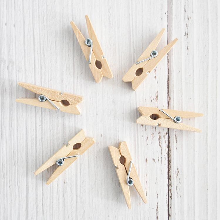 卸売春色木製ペグ服クリップのためのプロモーションギフトと装飾