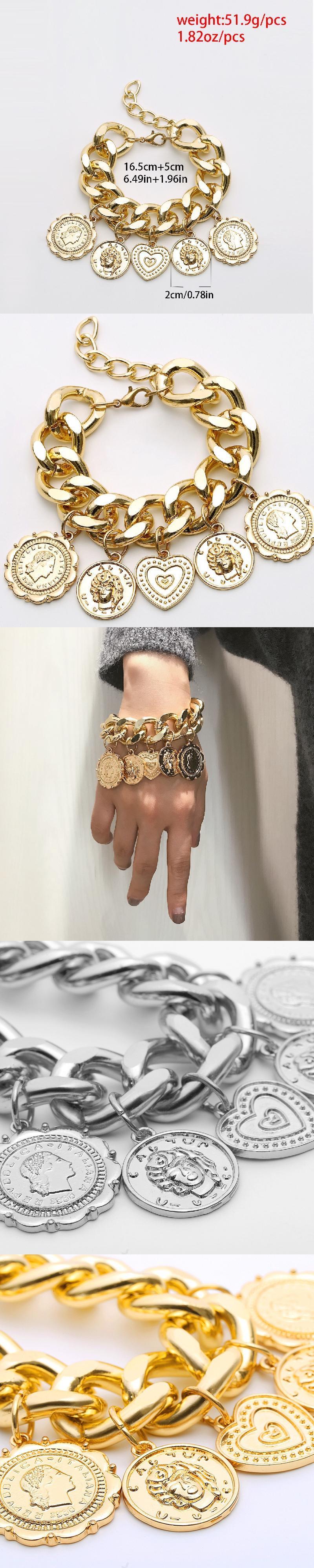 stainless+steel+jewelry Turkish Boho Coin Jewelry Tribal Ethnic Statement Bracelet girls bracelet