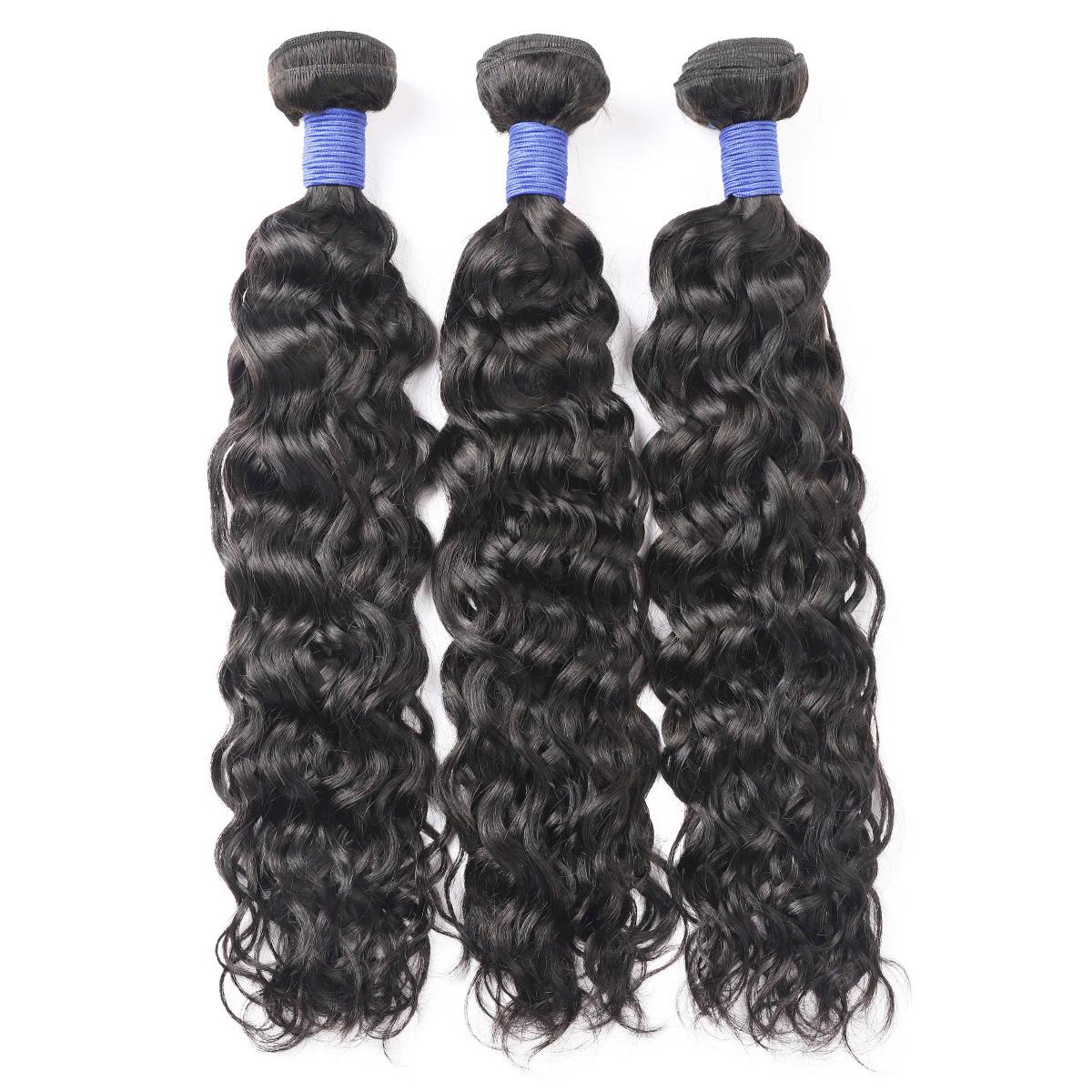 Parrucche brasiliane dei capelli onda di acqua reale dei capelli tesse trasformato teste e colori naturali dei capelli shunfa tesse presa di fabbrica