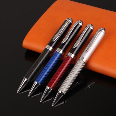 כבד יוקרה עט לוגו מותאם אישית מתכת כדור עט פחמן סיבי עט