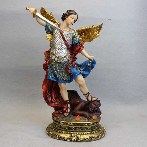 Hot sale traditional decorative resin art religious angel sculpture statue