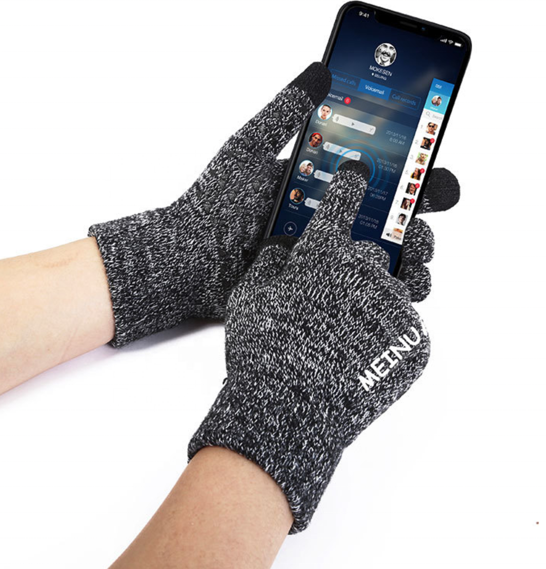 2019 Hot Winter Knit Gloves Touch Screen Full Finger Non-slip Thick Warm Gloves Warm Mittens Autumn Winter Wool Plush