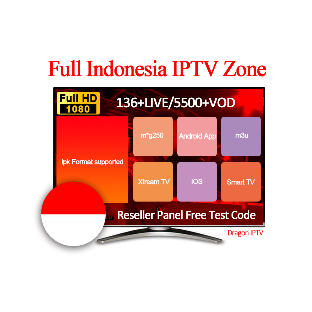 Indonesia Dragon Support Iptv Free Test Code 9000+tv Channels And 100+vod  Subscription 1 Year Reseller Panel Provider Hot Sell - Buy Xxx Channels