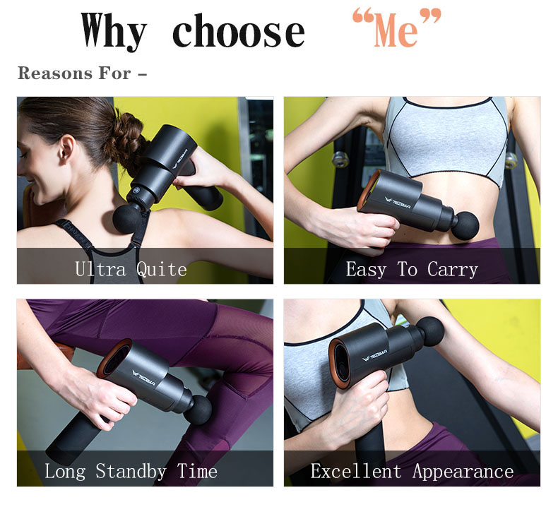 Electric Tissue Vibration Therapy Body 110v Fascial Massage Gun for wholesale,facial gun massager,fascial gun