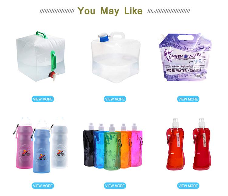 BPA Ücretsiz Yüksek Bariyer 4L 5L Acil şişe plastik kılıf kolu su torbası