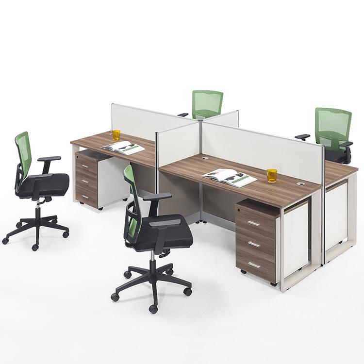 Oficina 4 persona estación de trabajo de oficina para 4 personas