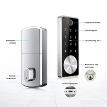 Liliwise TTLock Wifi Jarak Jauh Sidik Jari Digital Elektronik <span class=keywords><strong>Otomatis</strong></span> Deadbolt Smart Door Lock