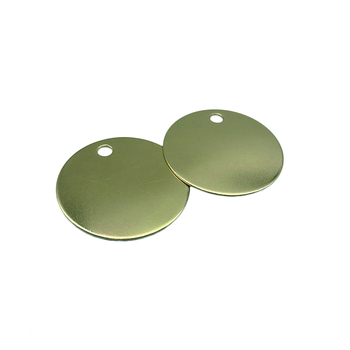 Custom copper stamping brass stamping aluminum blanks Round Disc Tags round brass stamping blanks