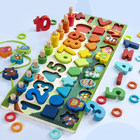 Games 2020 Magnetic Educational Games WPT28-More Wood Alphabet Letter Geometric Number Fishing Animal Wooden Puzzle Board