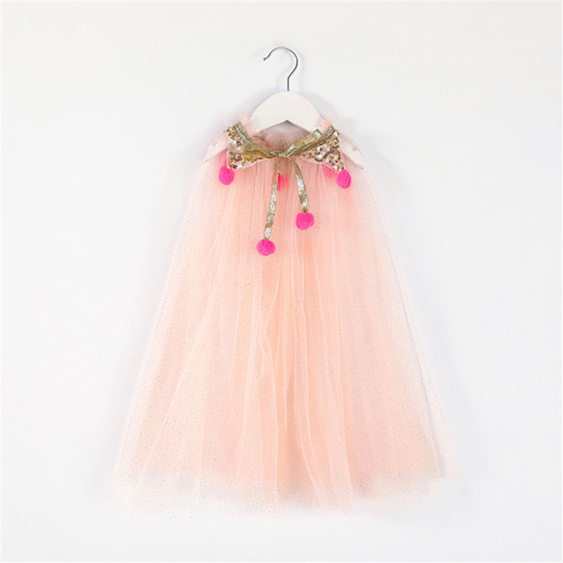 girl Colorful Princess cloak kids Tulle cape for Halloween Christmas holiday