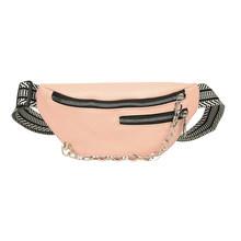 Повседневная поясная сумка на грудь, переносная женская сумка на плечо из искусственной кожи, сумка на молнии для денег, многофункциональны...(Китай)