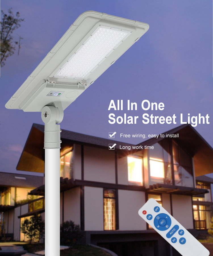 5 Years warranty outdoor IP66 waterproof smd 100w 180w all in one integrated solar led street light