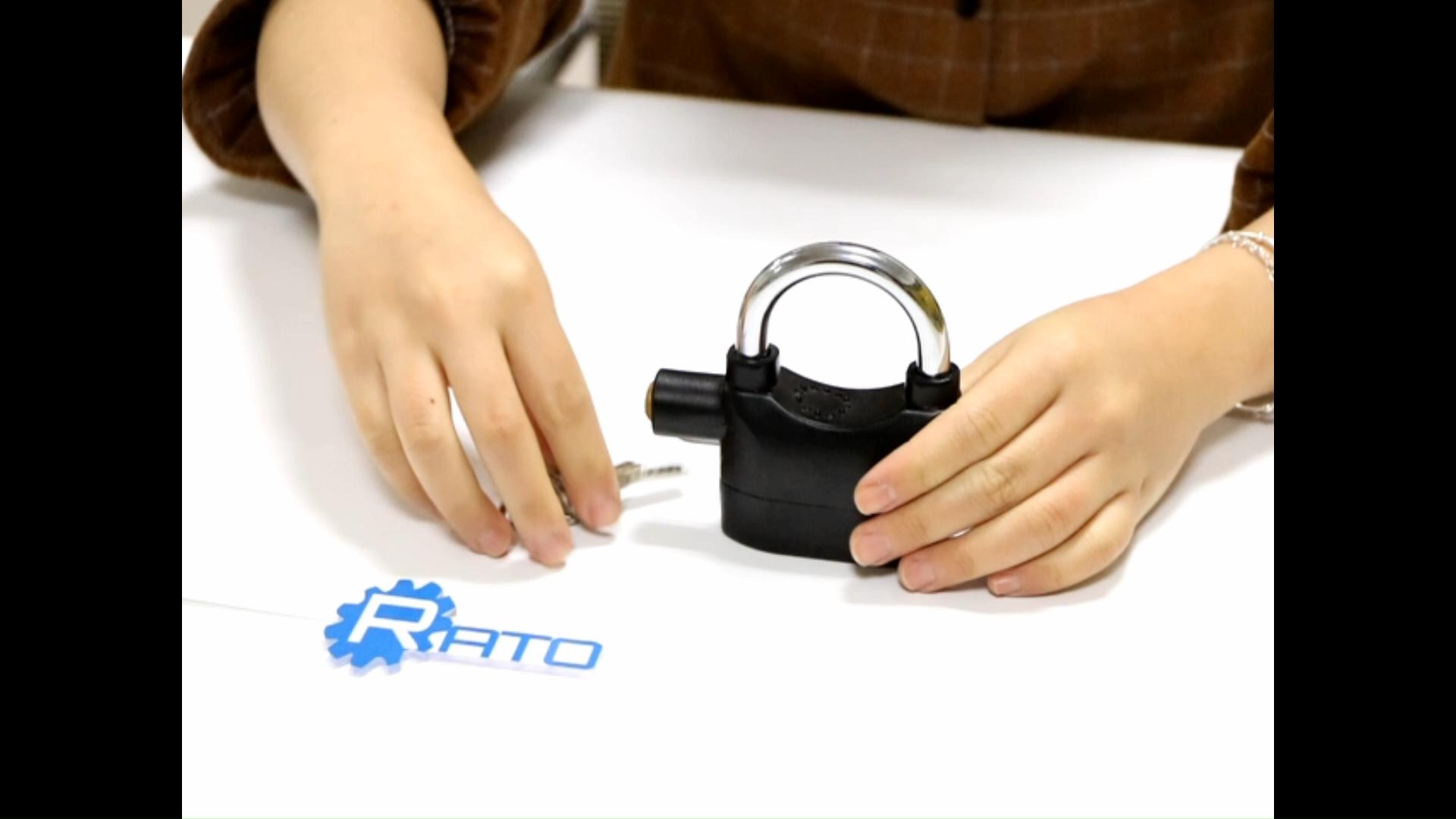 Paduan Aluminium Pintu Brankas Anti-Theft Long Shackle Gembok Alarm dengan Sertifikasi