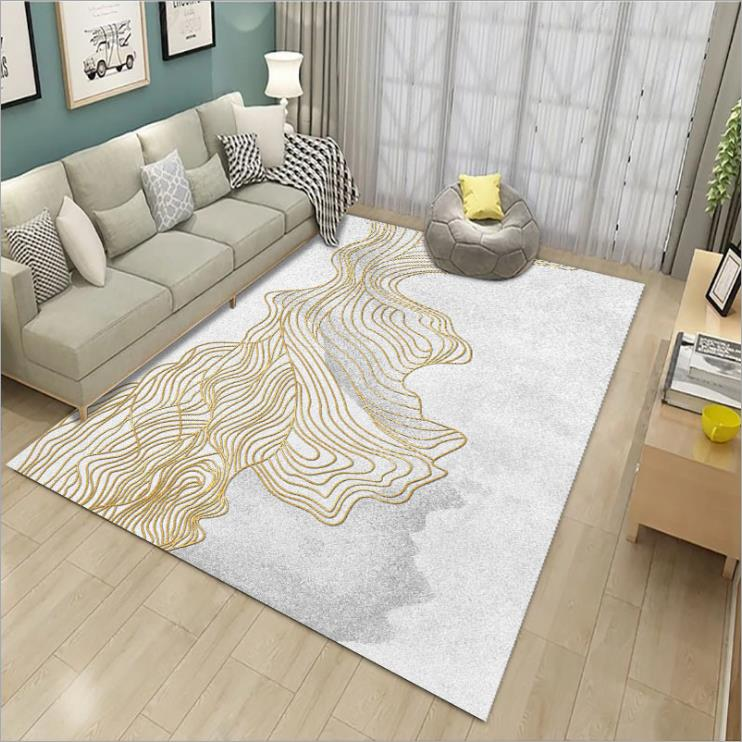 Modern Luxury Polyester 3d Custom Washable Hotel Printed Floor Rugs Carpet For Living Room and Mosque