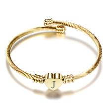 Женский браслет с надписью Nextvance, золотой браслет из нержавеющей стали с буквенным принтом(Китай)