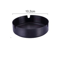 Portable decorative ashtray 10cm windproof customizable metal ashtray cheap metal stainless steel wholesale ashtray