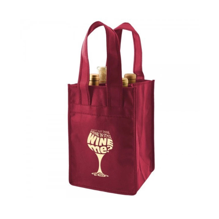 Best selling 100gsm disposable carrier bag non woven wine bag