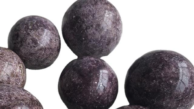 Wholesale Natural Purple Mica Stone Sphere Magic Decorative Stone Ball
