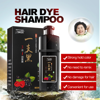 Hot selling natural black hair shampoo dye professional