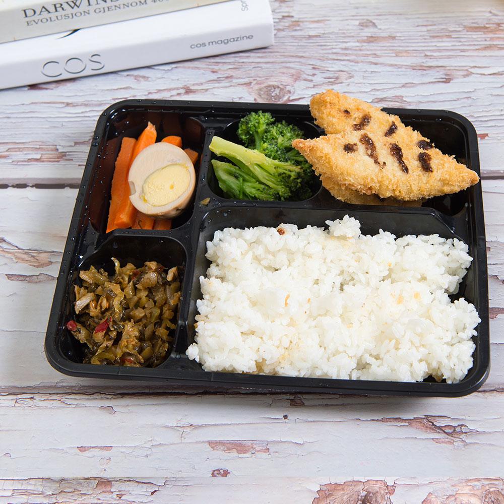 Pp jetables prêt repas bento 4 compartiment contenants alimentaires en plastique pour restaurant