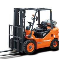 HUAHE 2 ton diesel forklift HH20Z forklift with duplex mast