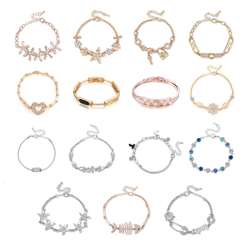 소녀 하트 다이아몬드 크리스탈 매력 팔찌, 패션 크리스탈 팔찌, 새로운 디자인 우정 쥬얼리 팔찌