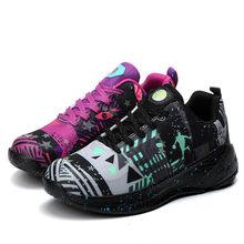 Мужские амортизирующие баскетбольные кроссовки Jordan, флуоресцентные баскетбольные кроссовки, Нескользящие высокие кроссовки, мужские дыша...(Китай)
