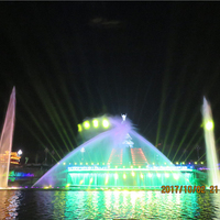 RGB LED Light Stainless Steel 304# Pump Water Fountain Show