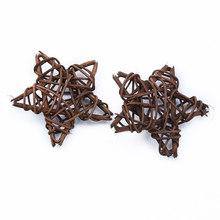 5 шт., искусственные соломенные звезды, свадебные декоративные цветы, венок для дома, Рождественское украшение, Ротанговые шары, занавески, п...(Китай)