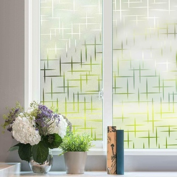 UV Protective frosted office home privacy decorative self-adhesive 3D colored stained static cling Glass Window Film