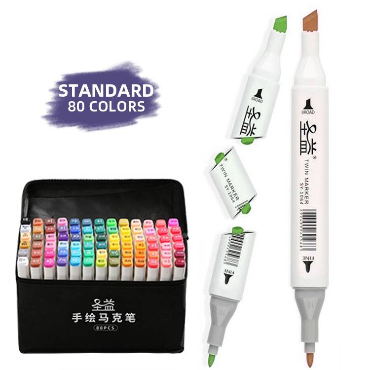 80 <strong>color</strong> round plastic sizemarker pen for standard
