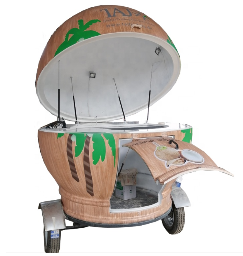 2020 new arrivals hot selling commercial  foot cart mobile food cart with wheel