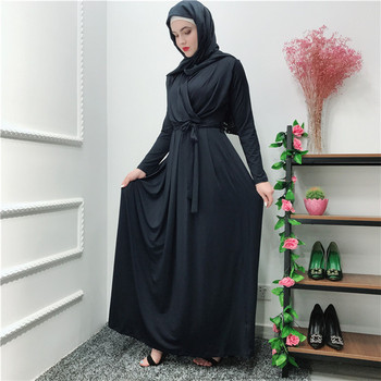 2019 latest top quality soft material elegant muslim dress islamic malaysia abaya in dubai turkish clothing