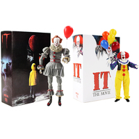 Stephen King's It Joker Pennywise Horror Clown Vinyl Action Figures Toys Halloween Gifts with box QTA-2072