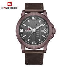 Часы NAVIFORCE с датой недели, кварцевые часы для мужчин, повседневные военные спортивные наручные часы из искусственной кожи, мужские часы, 2020(China)