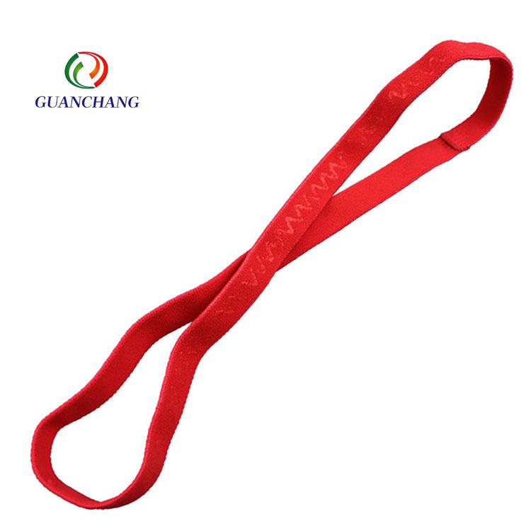 Toptan ucuz moda ince kaymaz spor bandı elastik hairband