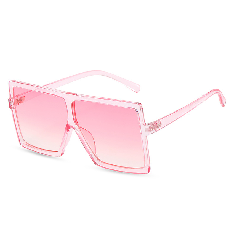THREE HIPPOS Flat Top Sun Glasses Women Plastic Custom Logo Shades New Arrivals Big Match Mother and Daughter Square Sunglasses, 40 colors for choose
