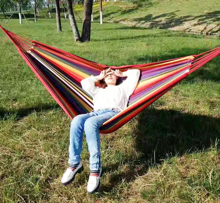 2020 neue Im Freien Reise Bett Tragbare Falten Freien 2 Menschen Komfortable Schaukel Hängematte für Wandern