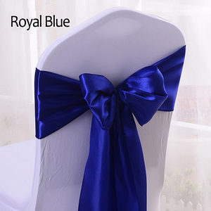 Cheap Wholesale Party Banquet Satin Royal Blue Wedding Chair Sashes