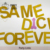 Same Penis Forever Banner Rose Gold Glitter Bachelorette Party Decorations Funny Gag Gift Photo Prop