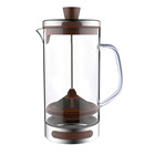 Modern style borosilicate cold brew french press iced coffee maker