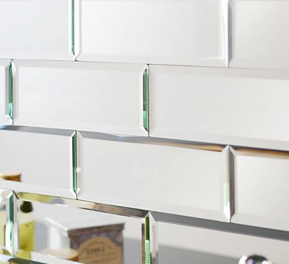 Decorative Silver Beveled Mirror Wall Tiles Bricks Buy Silver Bevelled Mirror Mirror Wall Tile Mirror Tile Product On Alibaba Com