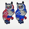 handmade fashion owl Custom Embroidery Patch Sew On Patches for clothing garment shoes for kids Shirt hat Decoration
