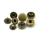 Cheap Custom Flat Brass Fastener Spring Press Metal Snap Button For Jeans Jacket