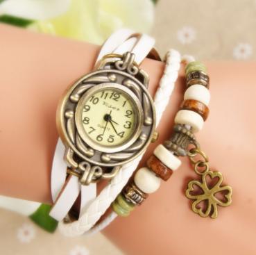 นาฬิกาหนังผู้หญิงสายคล้องร้อนขายสร้อยข้อมือนาฬิกาข้อมือ Lady สร้อยข้อมือนาฬิกา VINTAGE