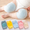 2019 New customized cotton knee pad smiling face baby safety knee pads cotton baby knee pads for crawling